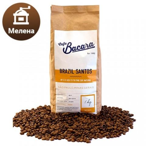 Кава Brazil Santos 1 кг. (мелена) фото