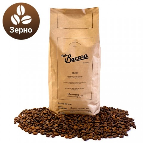 Кава Bacara Deluxe 1 кг. (зерно) фото