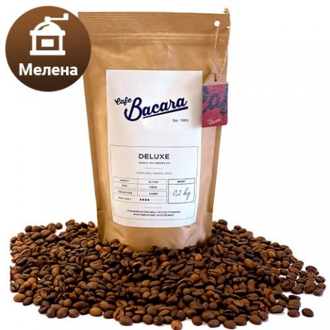 Кава Bacara Deluxe 0.2 кг. (мелена) фото